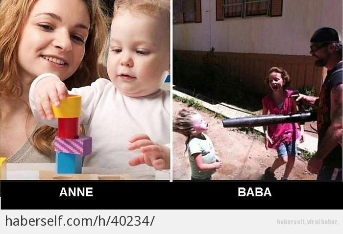 14 отличий мамы и папы в воспитании детей. Придумали новую игру.